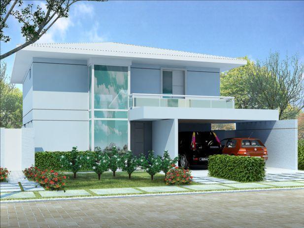 Casa com dois pavimentos for Fotos de casas modernas brasileiras
