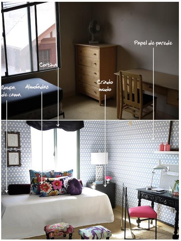 Antes e depois: quarto 2