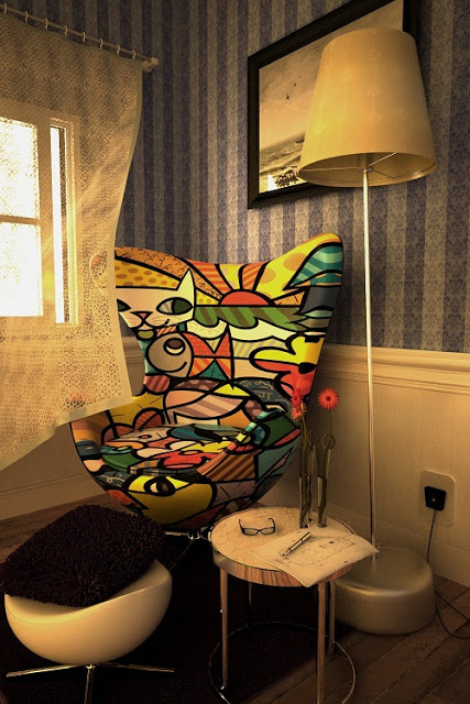 Móveis de Romero Britto na decoração 3