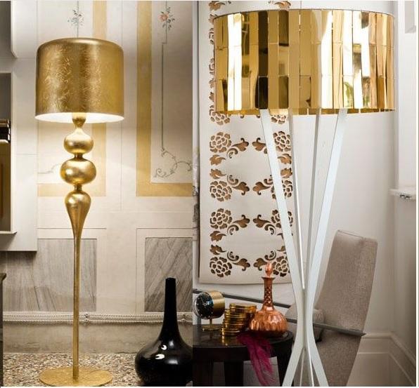 Luminárias Douradas 7