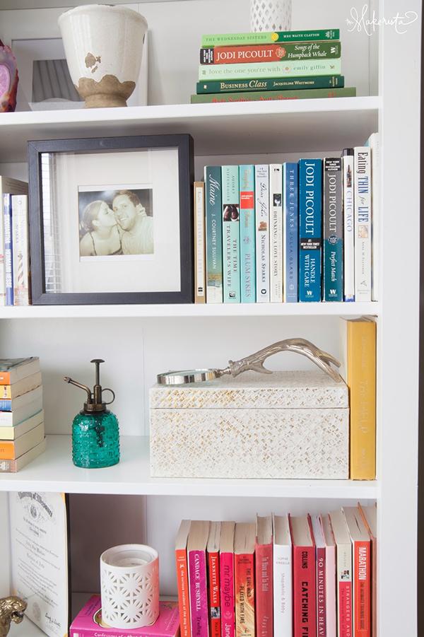 Organizar a estante de livros 1