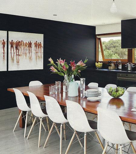 Decoração com parede preta 1