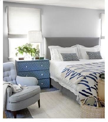 Decoração em cinza, azul e branco 6