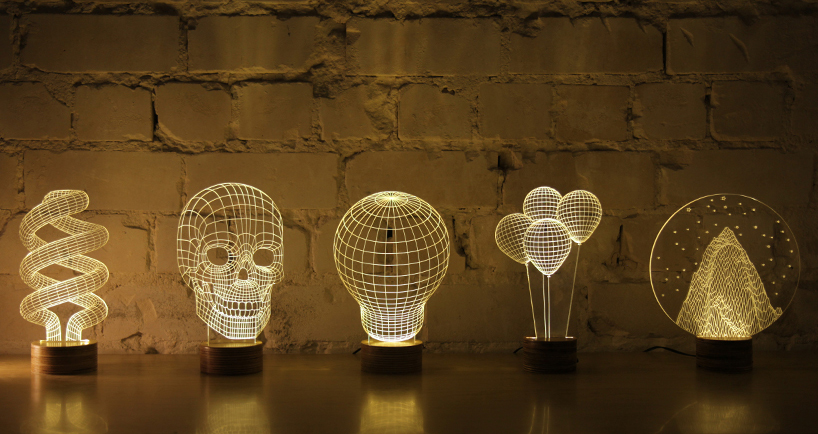 Efeito 3D na luminária