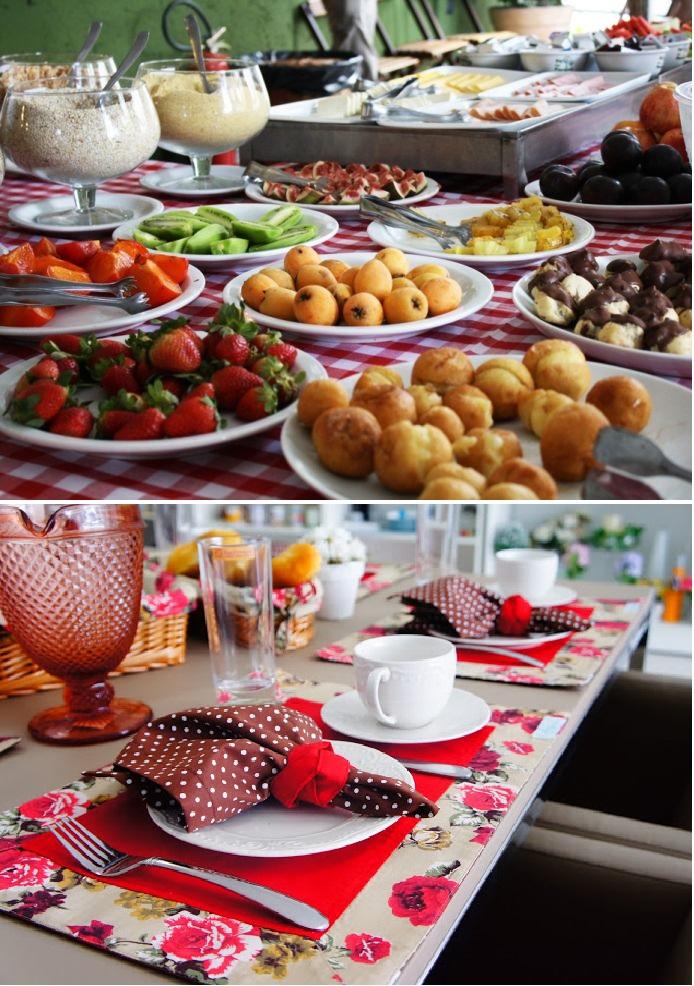 montar a mesa de café da manhã 2