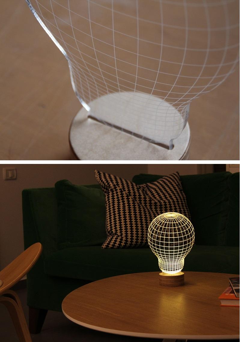 Efeito 3D na luminária 2