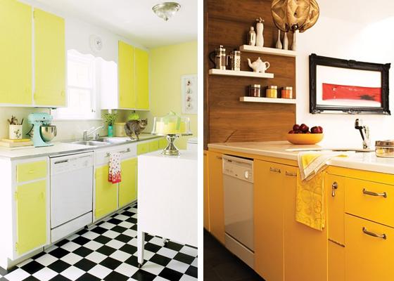 Armários coloridos na cozinha 7