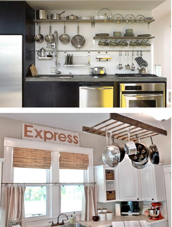 Panelas penduradas na cozinha 2