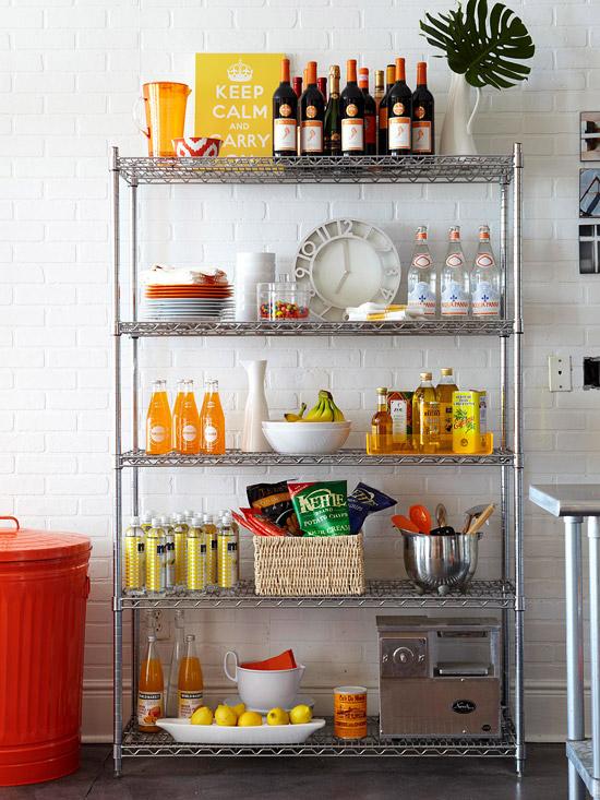 Decorar a estante da cozinha