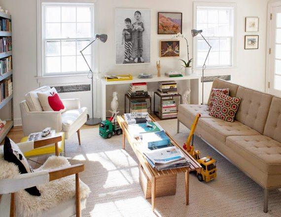 Apartamento em cores primárias