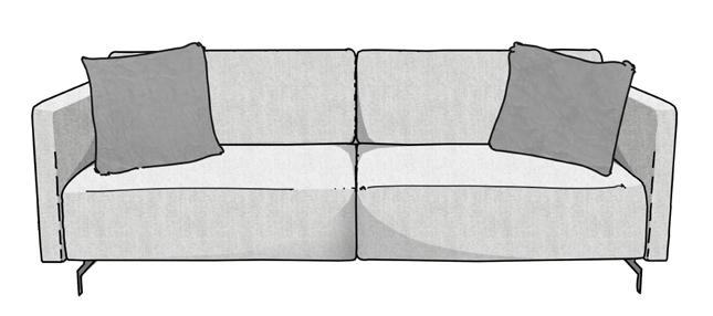 Como arrumar as almofadas no sofá 2
