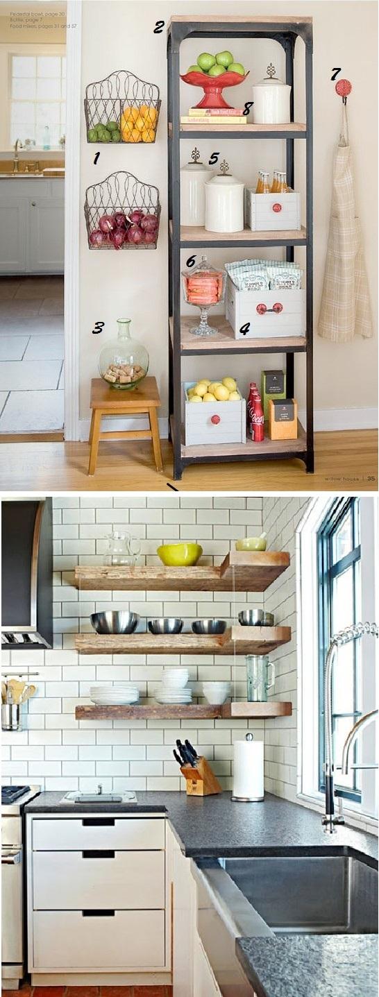Decorar a estante da cozinha 2