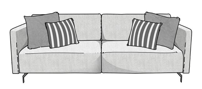Como arrumar as almofadas no sofá 3