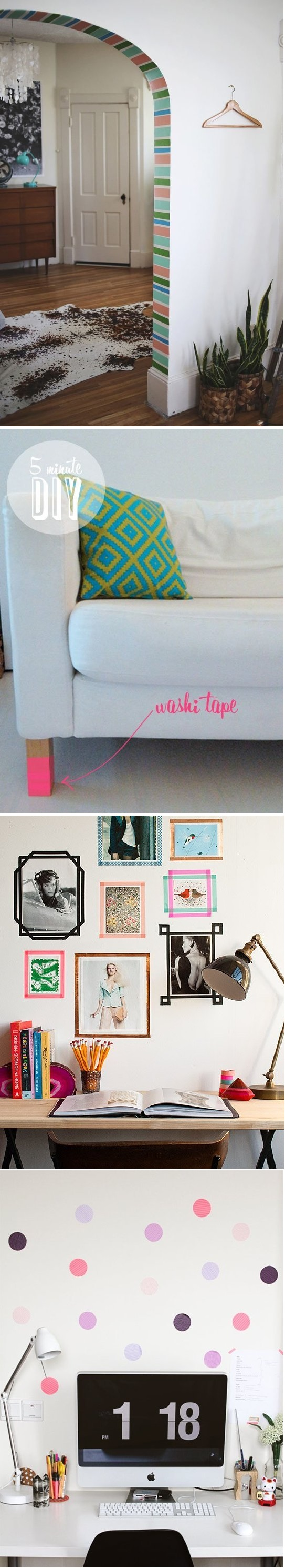 Washi tape na decoração 3