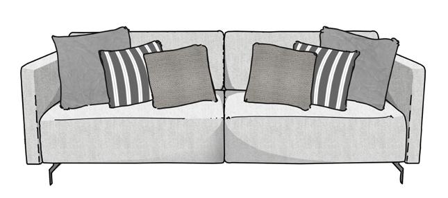 Como arrumar as almofadas no sofá 4