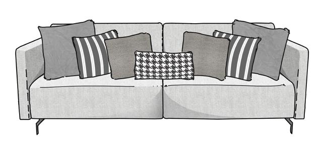 Como arrumar as almofadas no sofá