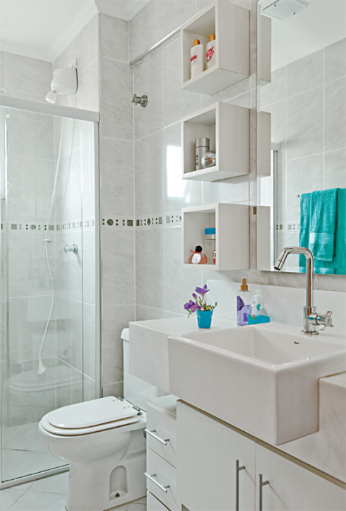 Banheiros pequenos -> Iluminacao Banheiro Pequeno