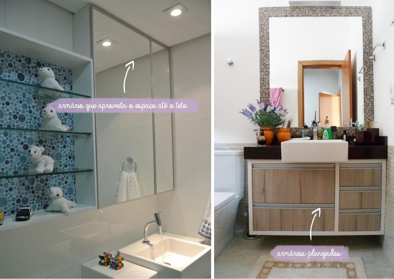 banheiros pequenos planejados banheiros pequenos banheiros pequenos #6C4A31 1325x940 Banheiro Com Porcelanato Concreto
