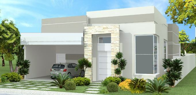 Fachadas de casas modernas for Casas modernas pequenas de dos plantas