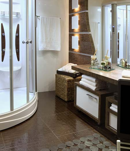 15 projetos inspiradodres de Banheiros decorados -> Banheiro Pequeno Assim Eu Gosto