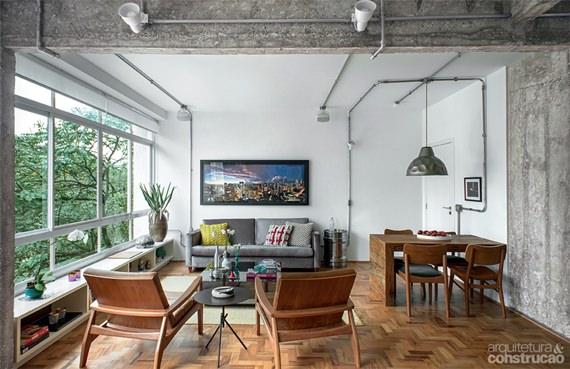 ofuro em jardim pequeno:Apartamento inspirador