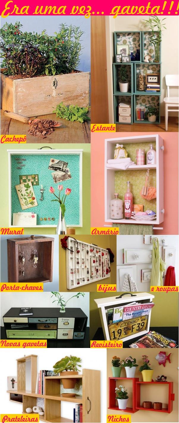 Reciclagem e decoração: gavetas antigas 9