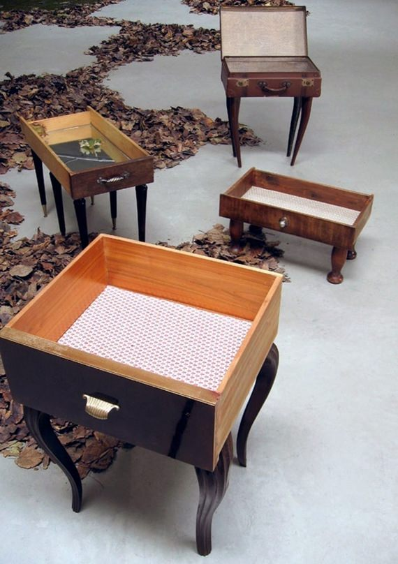 Reciclagem e decoração: gavetas antigas 4