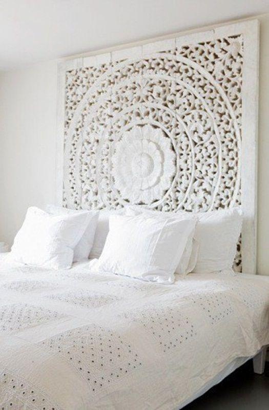 Decoração de quarto todo branco 14