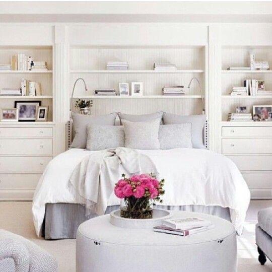 Decoração de quarto todo branco Decoração