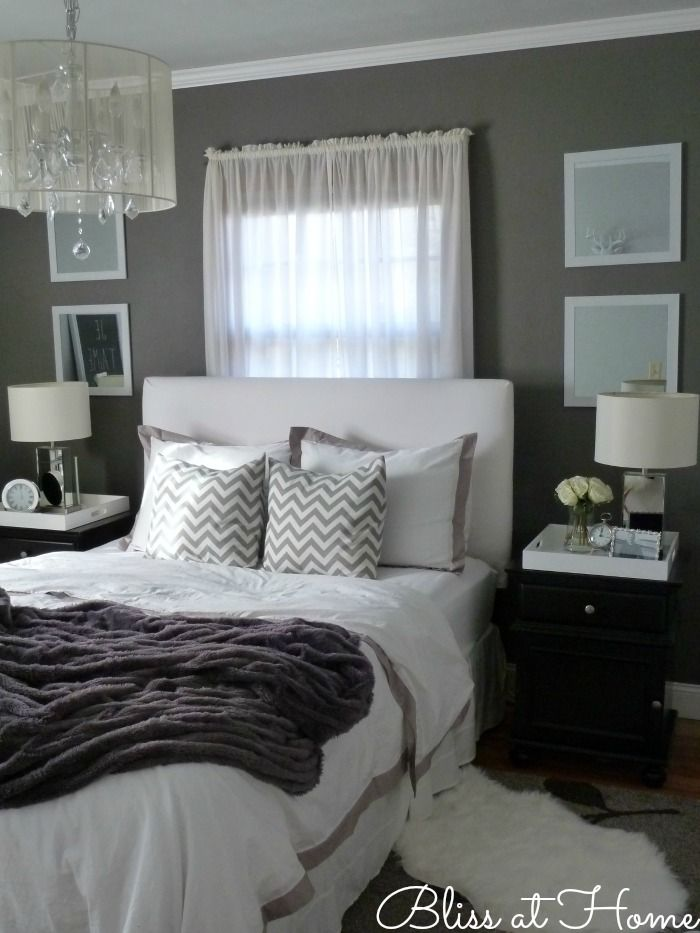 Decoração de quartos cinza 5
