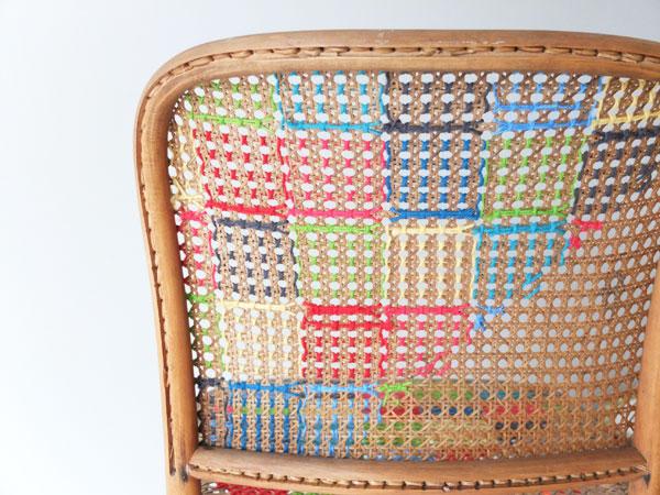 Decoração com fios de lã