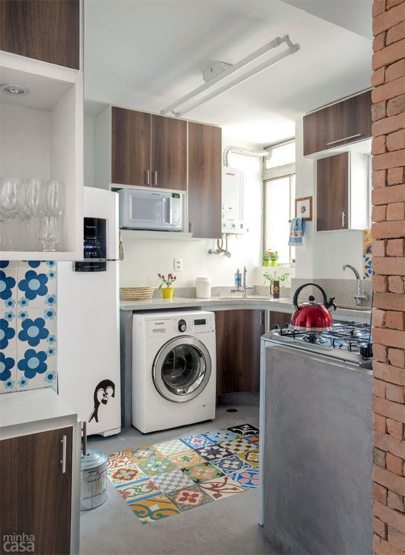 cozinha com lavanderia 12