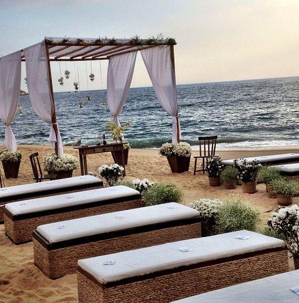 Decoraç u00e3o casamento -> Decoração De Casamento Na Praia