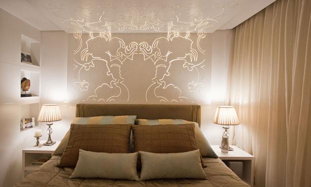 Decoração de quarto simples ~ Textura Para Quarto De Casal Pequeno