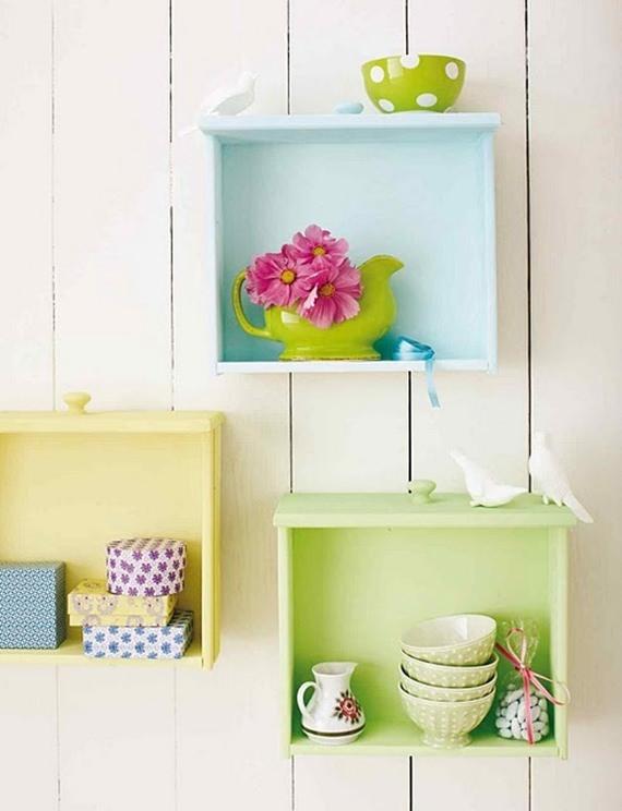 Reciclagem e decoração: gavetas antigas