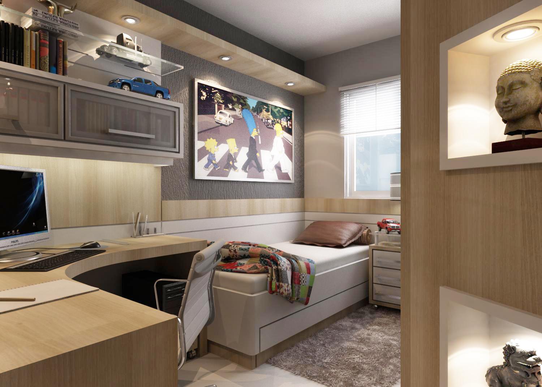 Decoração quarto de menino adolescente ~ Quarto Solteiro Com Tv Na Parede