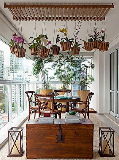 ideias jardim varanda:Acessórios decorativos – Existem algumas varandas que possuem