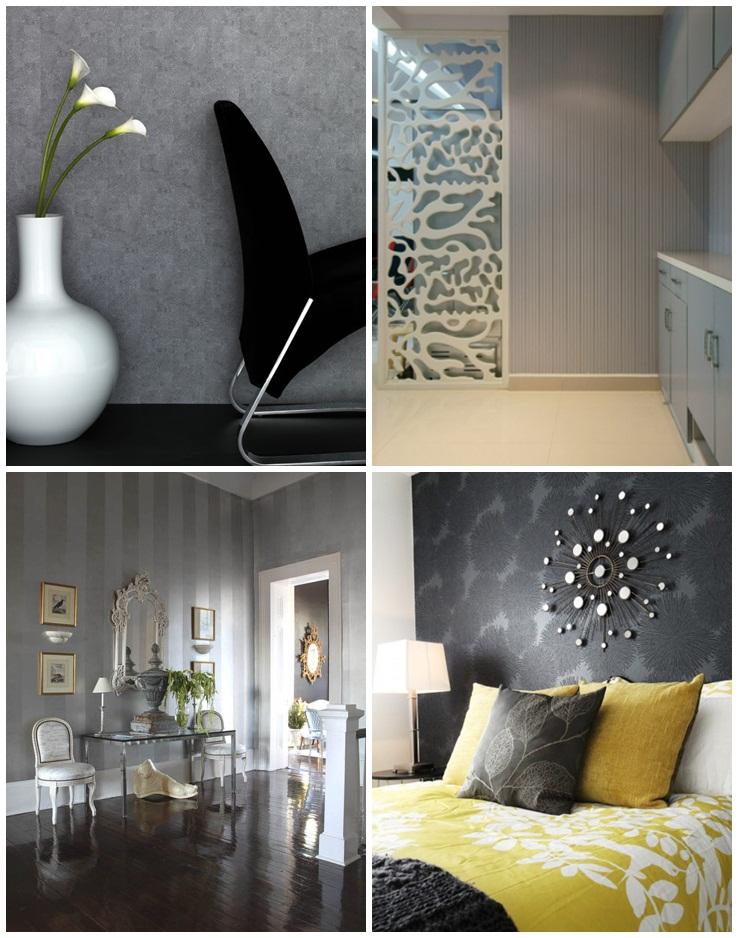 Como combinar: papel de parede cinza 10