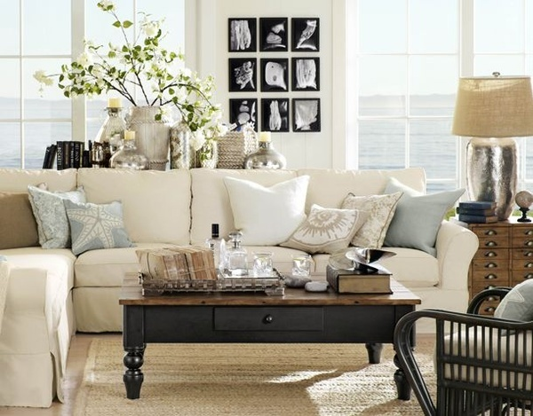 Fotos de salas decoradas for Pottery barn style living room ideas