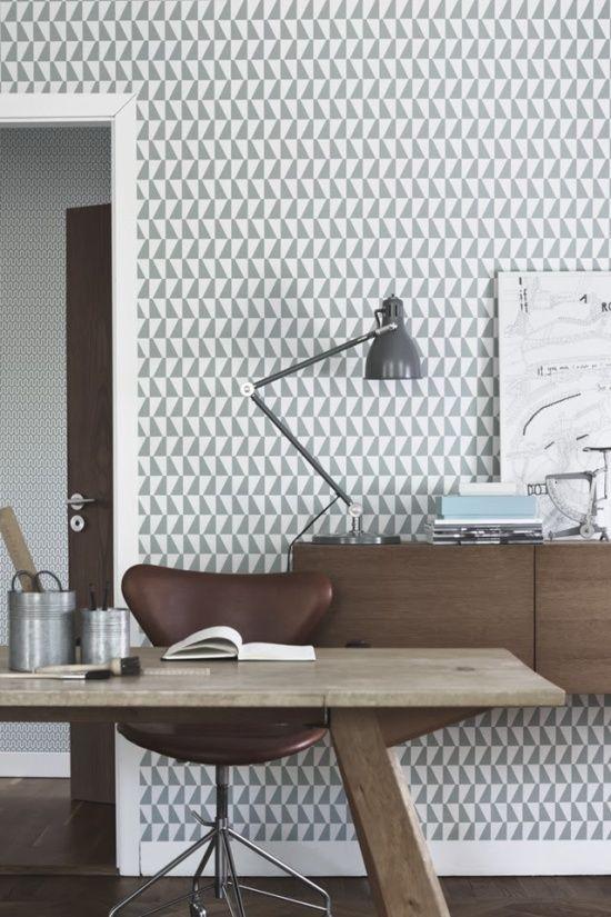 Como combinar: papel de parede cinza 3
