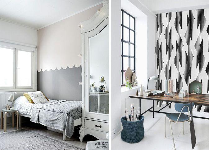 Como combinar: papel de parede cinza 8
