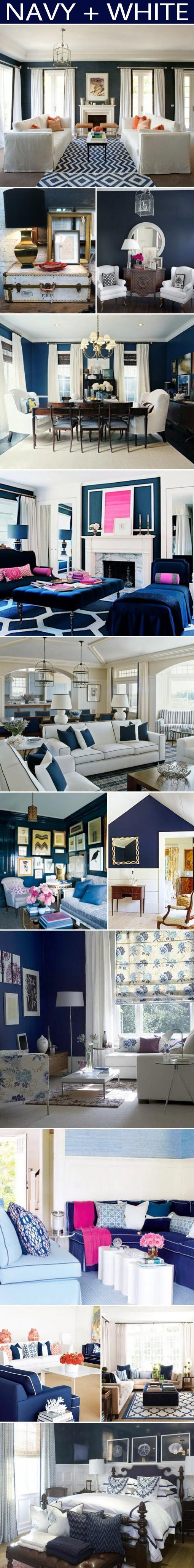 Branco e azul marinho para decorar 10