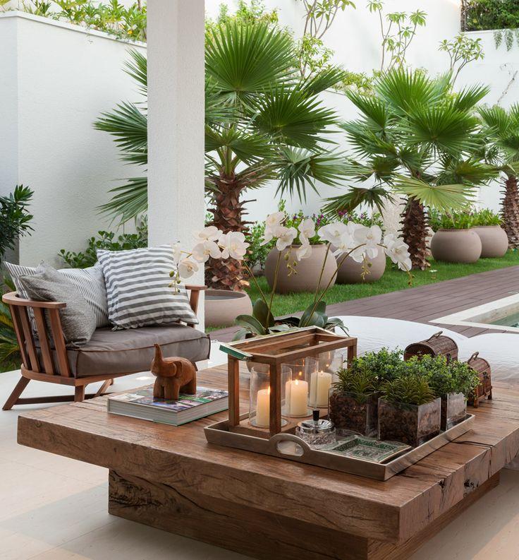 Home Garden Design Ideas Houzz Green Tropical House Small: Como Decorar A Varanda