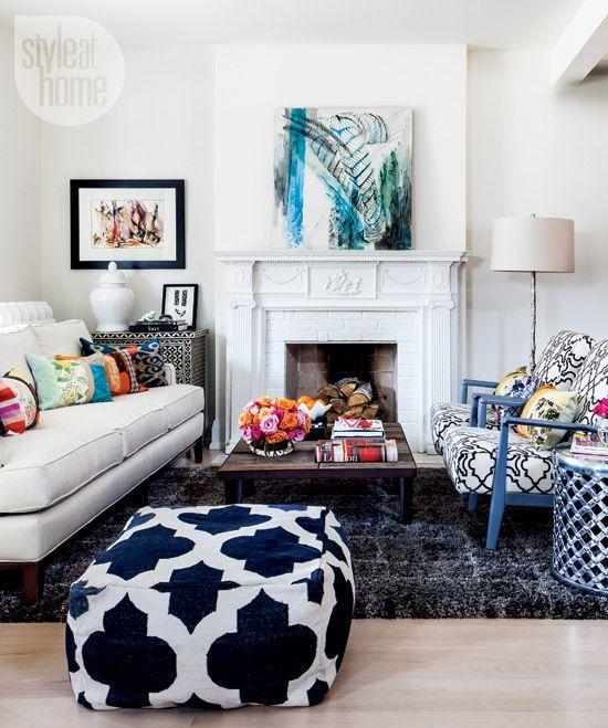 Como decorar: salas coloridas