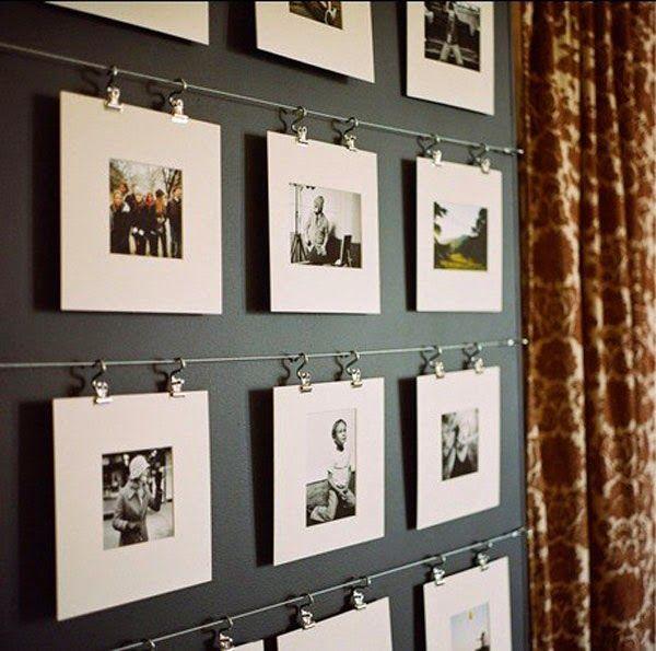 Decoração com fotos na parede 12