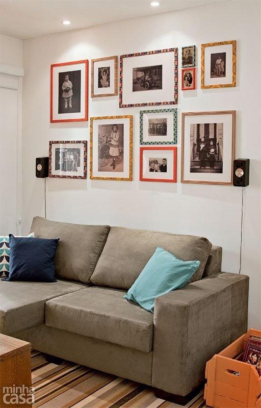 Decoração com fotos na parede 3