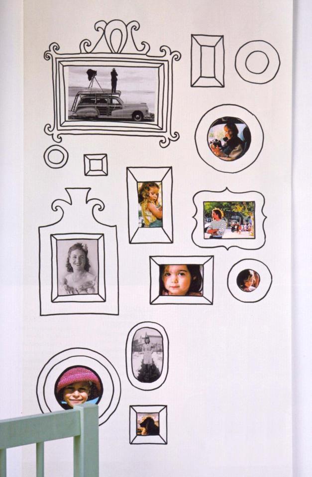 Decoração com fotos na parede 7