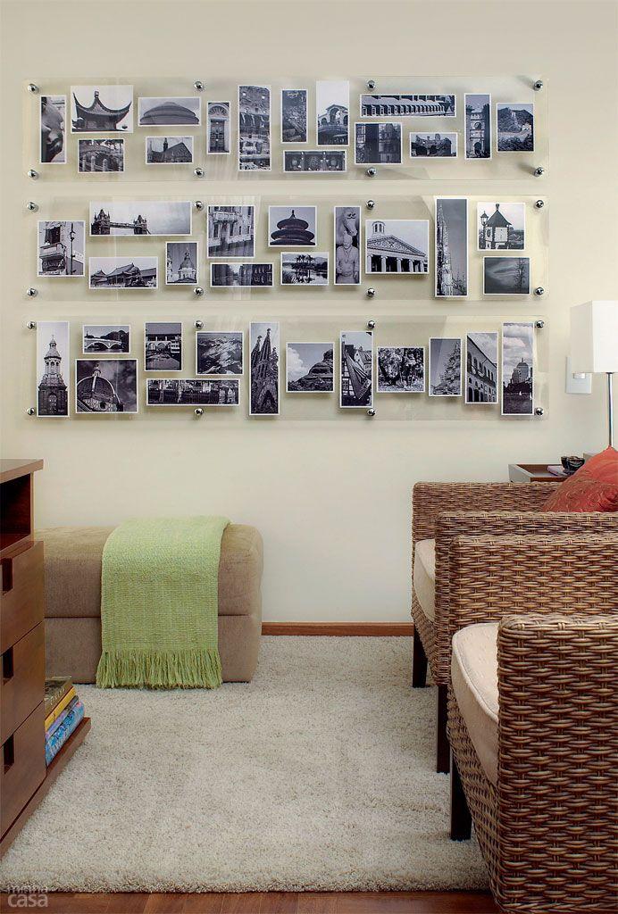 Decoração com fotos na parede 9