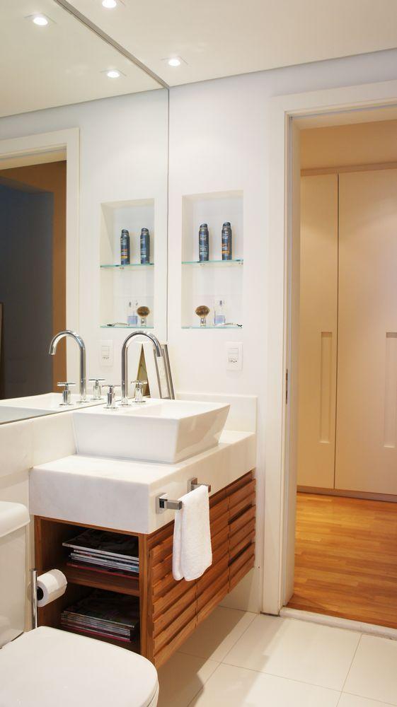 Iluminação no banheiro -> Armario Lateral Banheiro