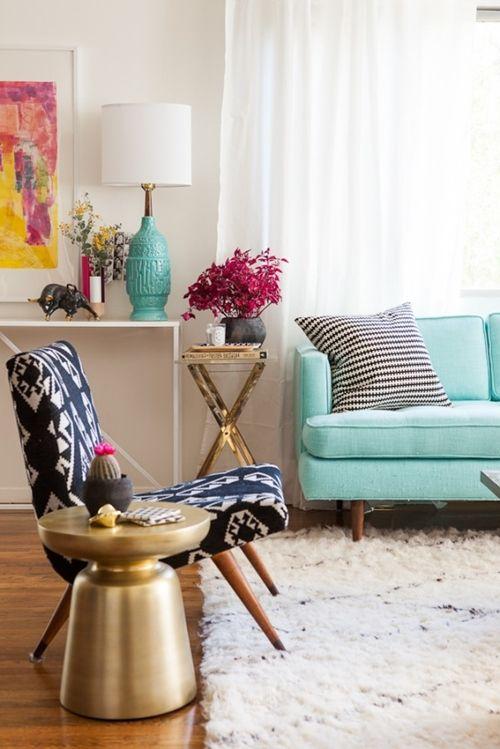 Como decorar: salas coloridas 5